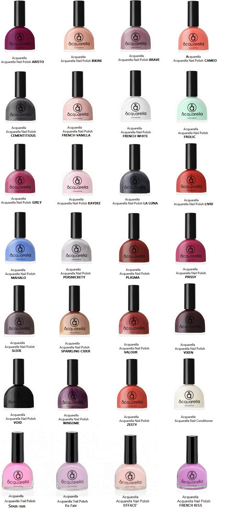 Acquarella Water color Nail Polishes without the toxins.